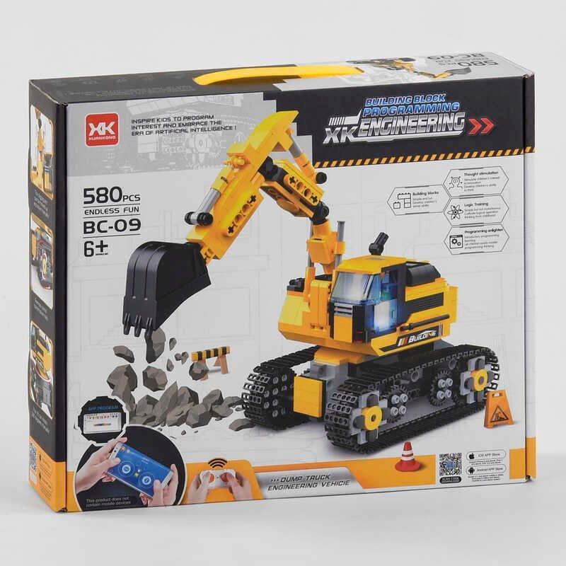 """Конструктор """"Роботехника Smart"""" на р/у BC-09 Y (12) 580 деталей, на радиоуправлении, в коробке"""