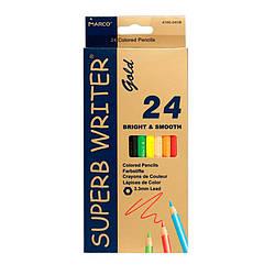 "Олівці 24 кольори шестигранні, Superb Writer Gold,E4100G-24CB,TM""Marco"""