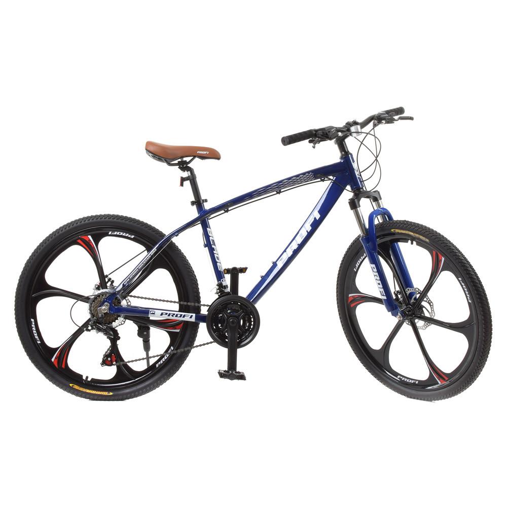 "Велосипед 26д. T26BLADE 26.3 алюм.рама 17"",Shimano 21SP,кассета,алюм.DB,магн.диск,синий"