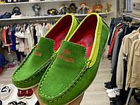 Мокасины зеленые детские, фото 1
