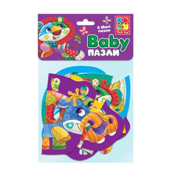 """Бебі MAXI пазли картонні в пакеті """"Диво-зоопарк"""" VT1722-20"""