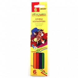 Карандаши  6 цветов шестигранные, Пегашка,  Marco