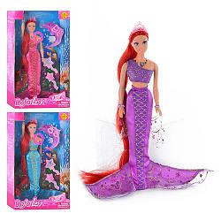 Кукла DEFA 8230  русалка, муз, свет, 3 цвета, аксессуары, в кор-ке, 33,5-20,5-5,5см