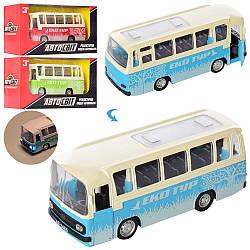 Автобус AS-2465 (60шт) АвтоСвіт, метал, інер-я, 15см, звук, св, рез.кол, бат (таб), в кор-ке, 19-9-6,5см