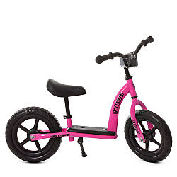 Беговел дитячий PROFI KIDS 12д. М 5455-4 (1шт) колEVA, пласт.обод ,, подст.для ніг, підносячи, рожевий