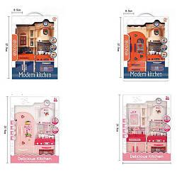 Меблі 32222-23-32-33 (18шт) кухня26-36-8,5см, посуд, звук, світло, 4віда, на бат, в кор-ке, 28-38-8,5см