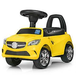 Каталка-толокар M 3147C(MP3)-6  муз,MP3,багаж.под сиден,на бат-ке,63,5-37-29см,желт