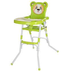 Стільчик 113-5 (1шт) для годування, 2в1 (стільчик), Cклад., 2-х точ.рем.безоп, регул.столік, зелений