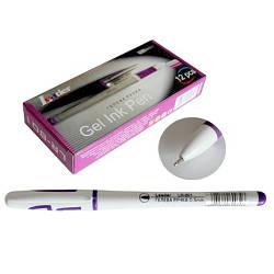 Ручка гелева, 0,5мм, фіолетовий, LR-801, LEADER