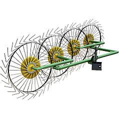 Грабли ворошилки Солнышко для мототрактора, мотоблока на 4 колеса (ГРВ 4)