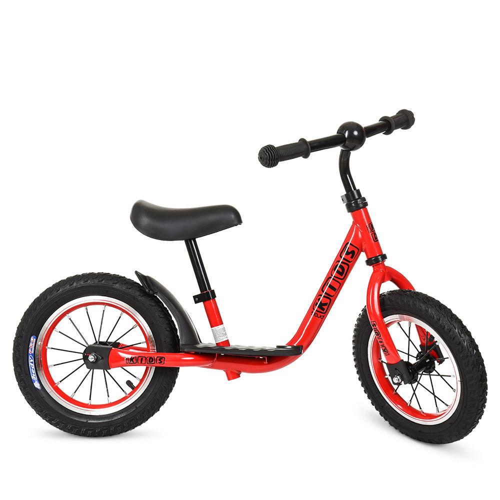 Беговел PROFI KIDS детский 12 д. M 4067A-1  рез.колеса,метал.обод,выс.до сиденья 30-43см,красн