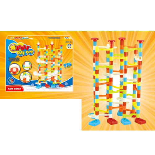 Гра 8202 (24шт) гірка-лабіринт, кульки, 176дет, в кор-ке, 34-26-6,5см