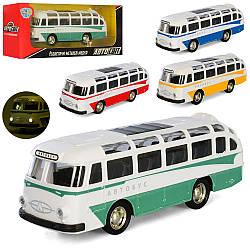 Автобус AS-2924 (60шт) АвтоСвіт, метал, інер-й, 14см, рез.кол, зв (рус), св, 4цв, бат-таб, в кор, 19-7,5-5см