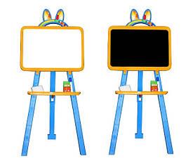 Дошка для малювання магнітна 013777/1 жовто-блакитний