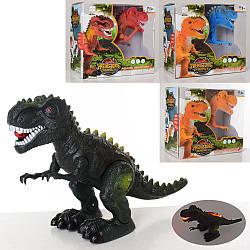 Динозавр 3325-26 (48шт) 34см, зв, св, ходить, 2віда, 2цвета, на бат-ке, в кор-ке, 21-18-10см
