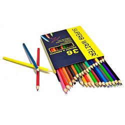 """Олівці 36 кольорів шестигранні, Superb Writer,4100-36CB,TM""""Marco"""""""