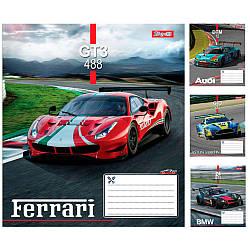 Тетрадь в линию 18 листов 1В Racing car