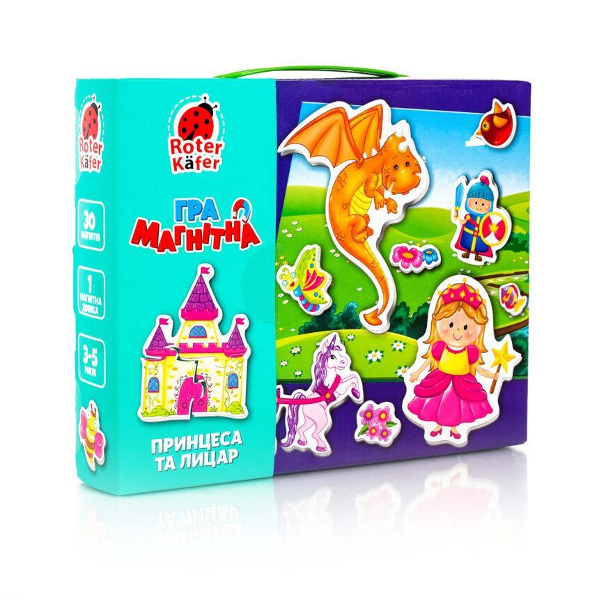 """Гра настільна """"Магнітна гра. Принцеса та лицар"""" RK2070-01 (укр)"""