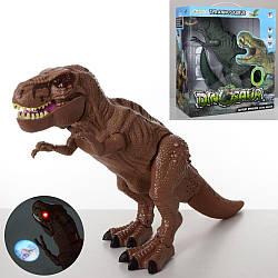 Динозавр 1027A (18шт) 50см, звук, світло, ходить, подвиж. деталі, 2цв, на бат, в кор-ке, 32-29-14,5см