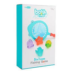 Іграшка YB1773M-4B (60шт) для купання, акула-сачок, морські мешканці 4шт, в кор-ке, 17-26,5-6см
