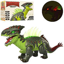 Динозавр 3840 (18шт) 50см, звук, світло, ходить, подв.деталі, на бат-ке, в кор-ке, 38-22-13см