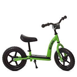 Беговел дитячий PROFI KIDS 12д. М 5455-2 (1шт) колEVA, пласт.обод, подст.для ніг, підносячи, зелений