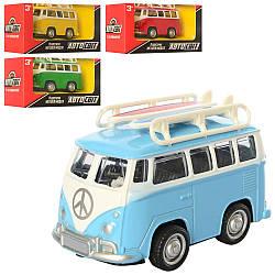 Автобус AS-2602 (72шт) АвтоСвіт, метал, інер-й, 8 см, 4цвета, в кор-ке, 13-6,5-7,5см