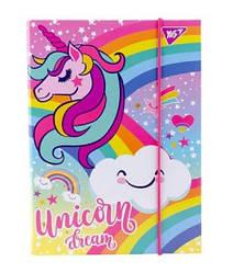 """Папка для зошитів YES картонна В5 """"Unicorn"""""""