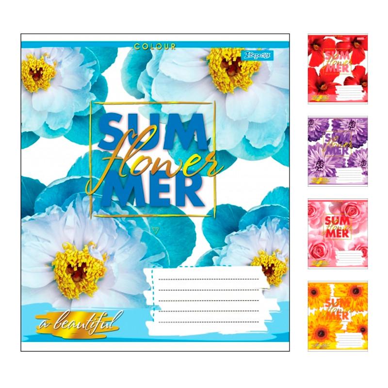 Тетрадь в клетку 60 листов 1В SUMMER FLOWER