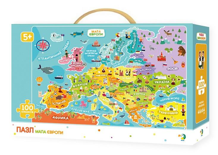 300129 Пазл Мапа Європи