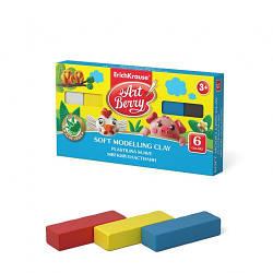 Пластилін м'який Art Berry, 6 кольор., 120 гр., EK 41780