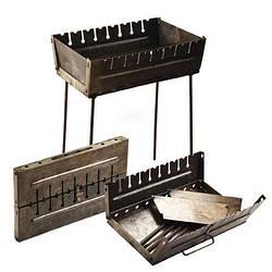 Мангал-чемодан на 8 шампурів 50 * 27 * 5 см (висота ніжки 45см) КК-М8 (1шт)