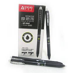 GP-3317-BK Ручка авт. рез. грип. стираемая обычн 0,5 черн Темп исчез