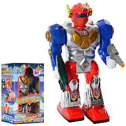 Робот 28052  22-12-6см, ходит, звук, свет, на бат-ке, в кор-ке, 12-21,5-8см