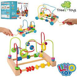 Дерев'яна іграшка Центр розвиває MD 1 241 (33шт) лабір.на пров, пірамід-ключ, 3в, в кор, 18-24-24см