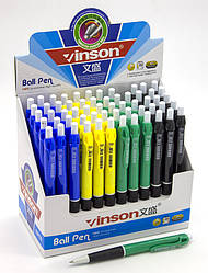Ручка кулькова, автомат, синя, Арт.328, Vinson, Імп