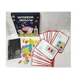 Дерев'яна іграшка Танграм MD 2833 (30шт) магнітний, фігурки, картки, в кор-ке, 22-26,5-3см