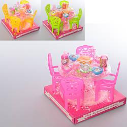 Їдальня A8-83 (108шт) стіл, стільці 4 шт, посуд, продукти, мікс кольорів, в слюди, 15-12-15см