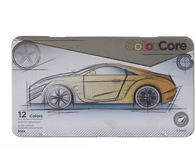 """Олівці 12 кольорів шестигранні d=4.0 у метал.пеналі, ColorCore (new),E3000-12TN-A,TM """"Marco"""""""