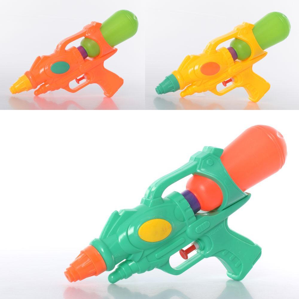 Водяной пистолет MR 0583  размер маленький, 25см, 3цвета, в кульке, 18-25-5см