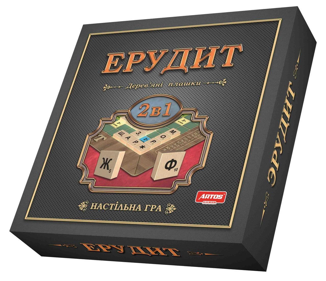 Настольная игра Эрудит 2 в 1(русская и украинская)
