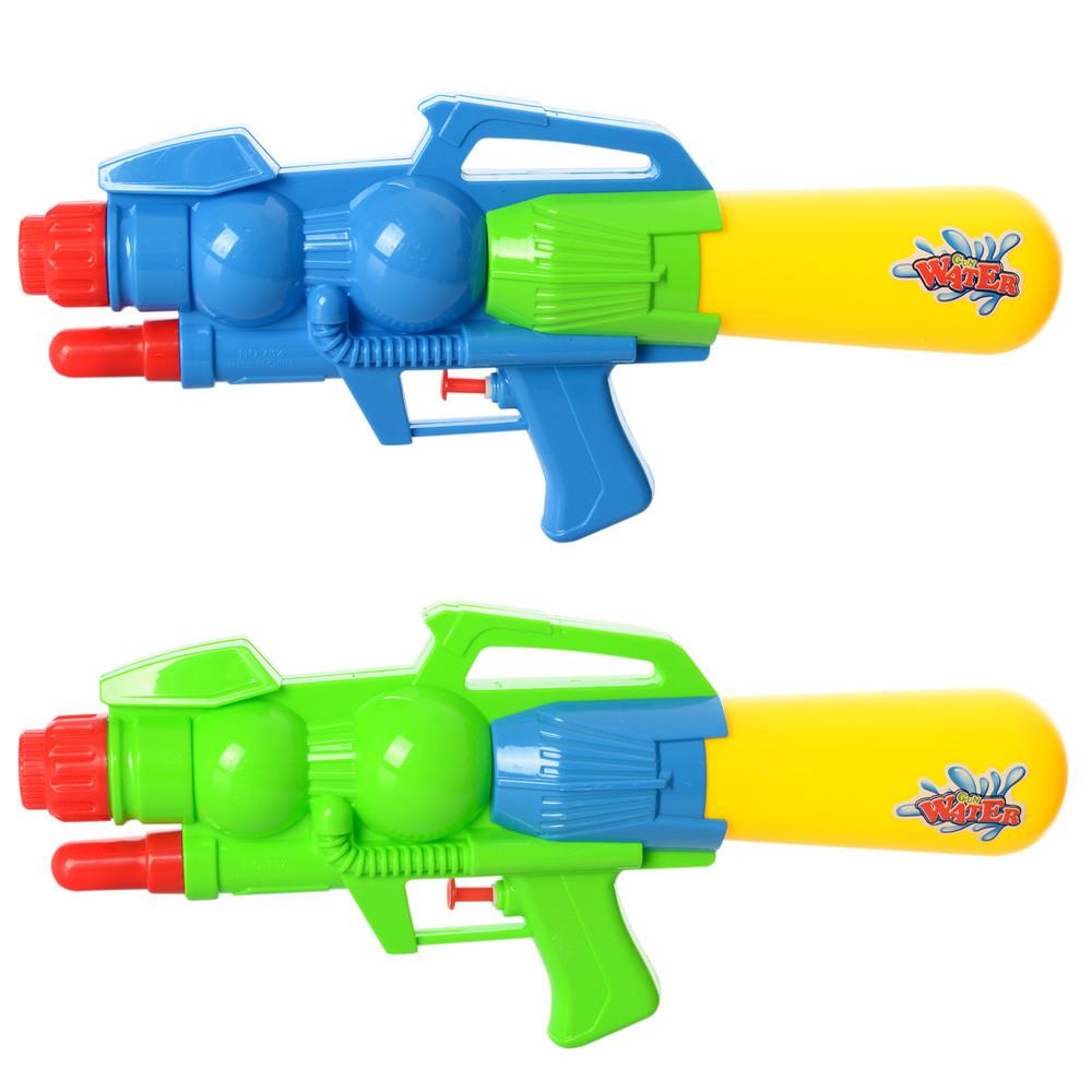 Водяний автомат M 2814 (72шт) помпа, розмір середній, 34,5см, 2 кольори, в кульку, 16-34,5-5,5см