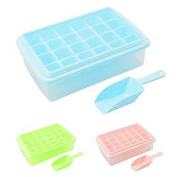 Форма для льоду з контейнером і лопаткою 27 * 17 * 8 см R84608 (60шт)