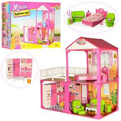 Будиночок 6982B (5шт) 2 поверхи, 81-82-40,5см, 3 кімнати, меблі, для кукли29см, в кор-ке, 60-42-18см