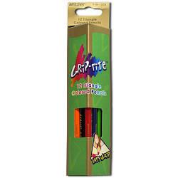 """Олівці 12 кольорів трикутні,Grip-Rite,9100-12CB,ТМ""""Marco"""""""