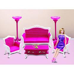 Меблі 3017 (12шт) вітальня, диван 22см, 2 крісла, столик, телефон, в кор-ке, 40-25,5-7см