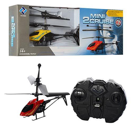 Вертолет 901  ду(ИК), гироскоп, аккум, 18см, свет, 2 цвета, в кор-ке, 33-13-5,5см