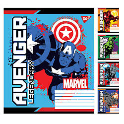 А5 / 12 кіс. YES Avengers. Legends, зошит вчений.