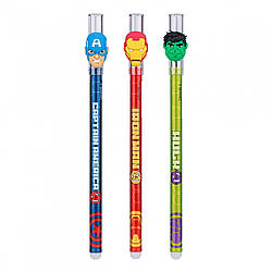 Ручка гелева YES пиши-стирай & quot; Marvel. Avengers & quot; 0,5мм, синя