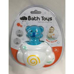 Іграшка 7736B (96шт) для купання, хмара + слоник, 13,5 см, в слюди, 19-22-9см